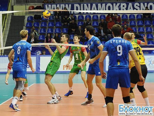 Краснодарский «Динамо» обыграл «Грозный»  в волейболе