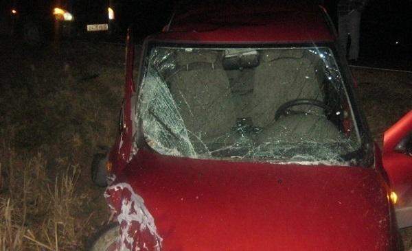 В Темрюкском районе иномарка влетела в припаркованную у обочины «Ладу»