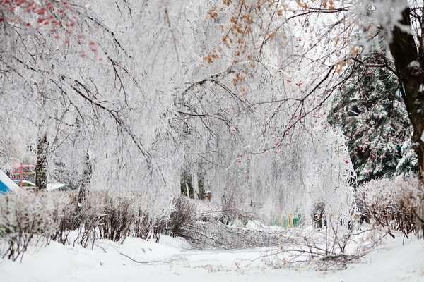 Жителей Армавира просят не выходить на улицу после ледяного дождя