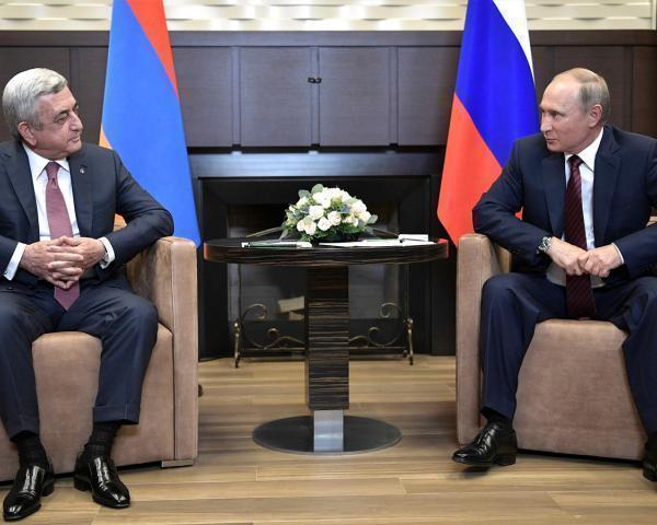 Дружбу исотрудничество между странами обсудили вСочи президенты РФ иАрмении