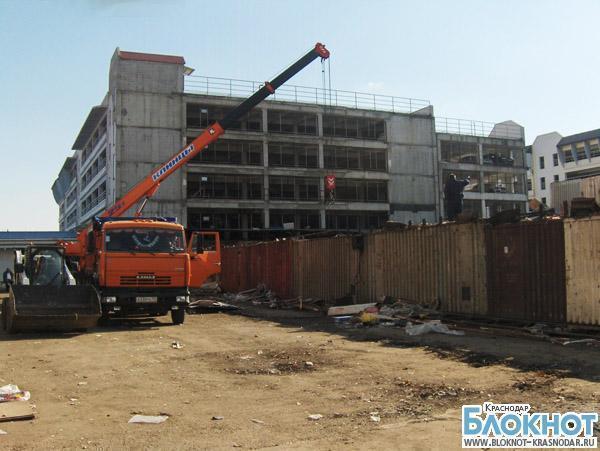 На Вишняковском рынке начали возводить торговый комплекс