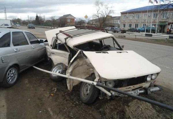 В Белореченском районе столкнулись две легковушки