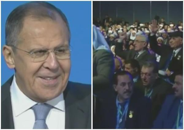 На конгрессе в Сочи Лаврову пришлось успокаивать сирийцев, прославляющих Россию