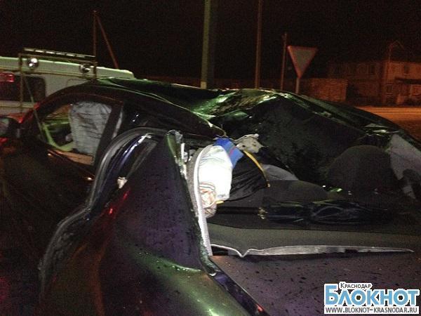 В Краснодарском крае в результате аварии погибла женщина и двое детей
