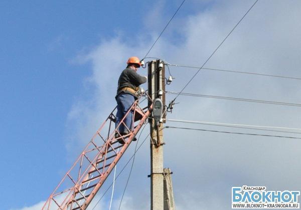 В Анапском районе три тысячи человек остались без света