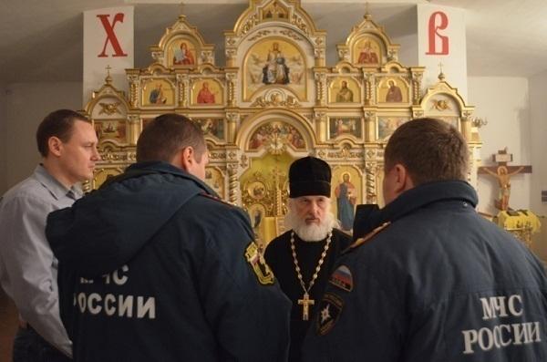 Кубанские спасатели отправились в православные храмы