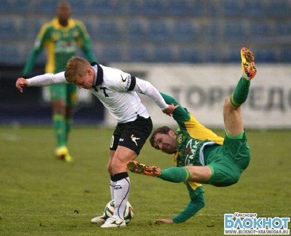 Футбольный клуб «Кубань» сыграл вничью с аутсайдером