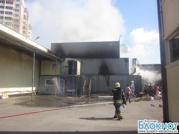 В Краснодаре произошел пожар на улице Чехова