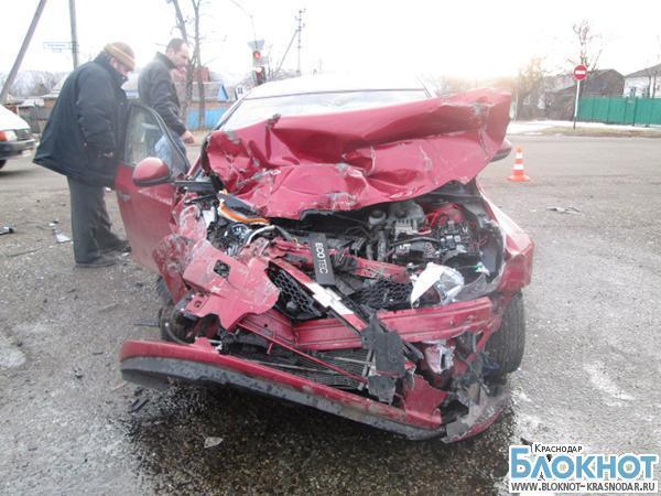 В Отрадненском районе при столкновении автомобилей пострадали пятеро