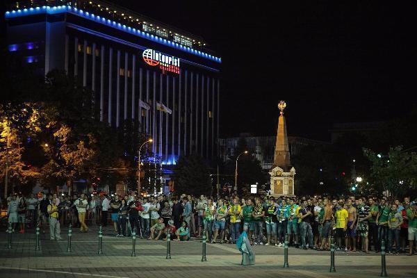 Трансляцию матча «Кубани» на Театральной площади отменили