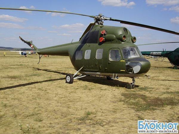 В Гулькевичском районе упал вертолет