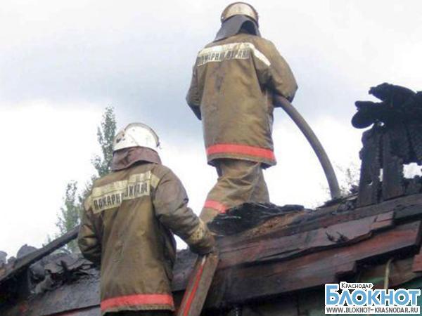 В Кореновском районе из-за короткого замыкания загорелся дом