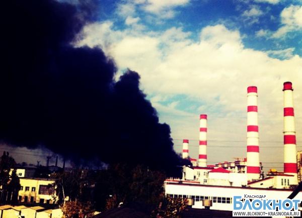 В Краснодаре произошло возгорание на территории ТЭЦ