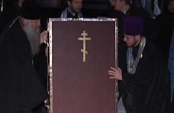 Капсулу с иконой Божьей Матери доставили в Краснодар