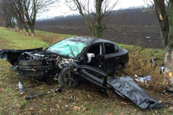 ДТП на Кубани: «Фольксваген» на скорости врезался в дерево, погибла пассажирка