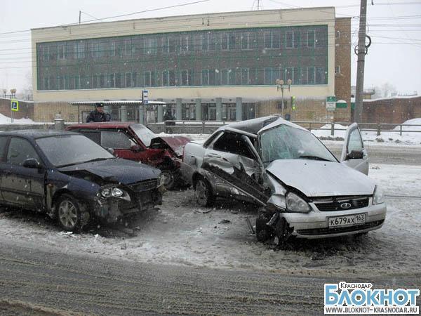 Авария в Белореченске: 1 погиб, 2 травмированы