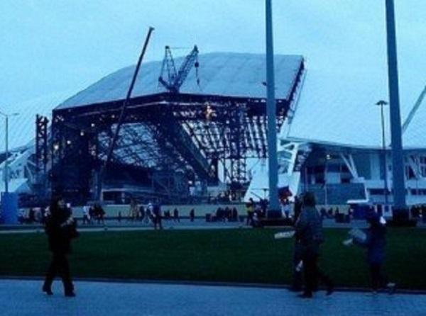 От сочинского стадиона «Фишт» останутся лишь навесы в виде белых бумерангов