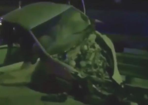 Немецкий автомобиль разворотило по дороге из Красной Поляны в Сочи