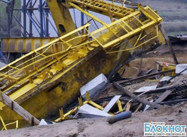 В Краснодарском крае на детей упала конструкция башенного крана