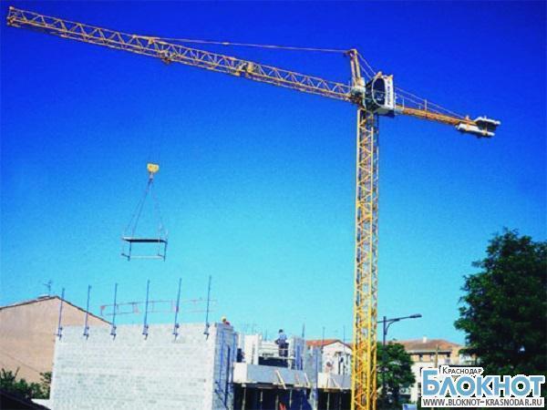 В столице Кубани бетонная плита придавила рабочего