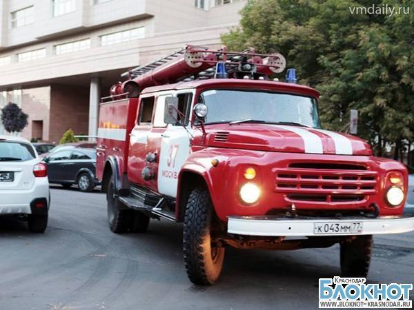 В Армавире загорелось административное здание