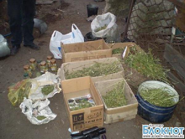 В Краснодарском крае мужчина хранил крупную партию марихуаны