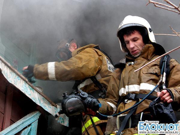 В Курганинском районе по неизвестной причине сгорел дом