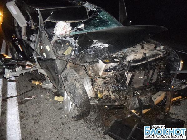 В Краснодарском крае из-за столкновения машин погиб человек