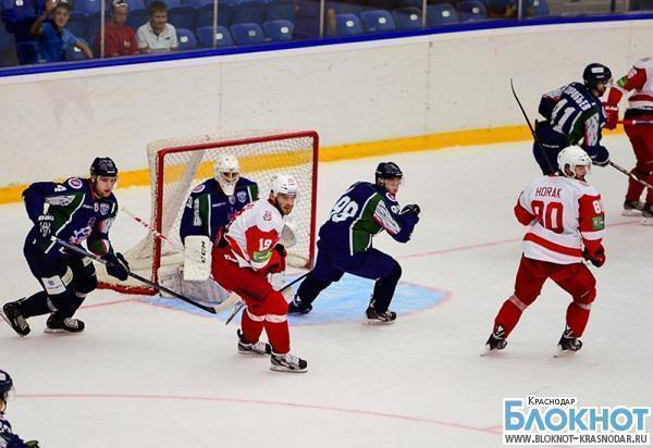 В хоккейном матче «Кубань» проиграла «Витязю» со счетом 1:0