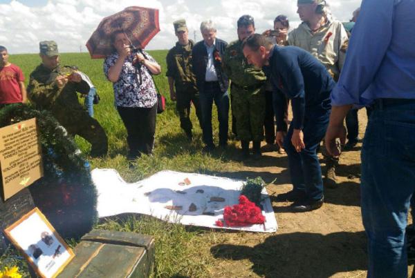 Кондратьев побывал на раскопках самолета времен ВОВ