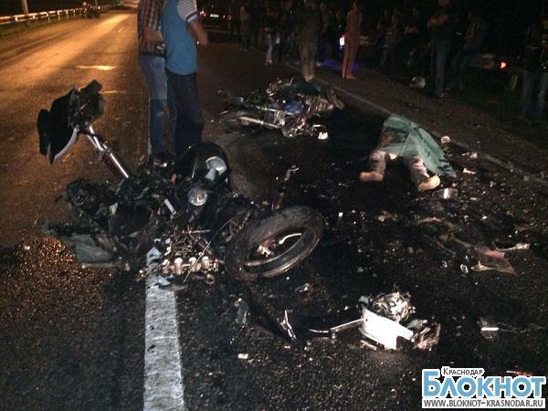 В столице Кубани столкнулись два мотоцикла