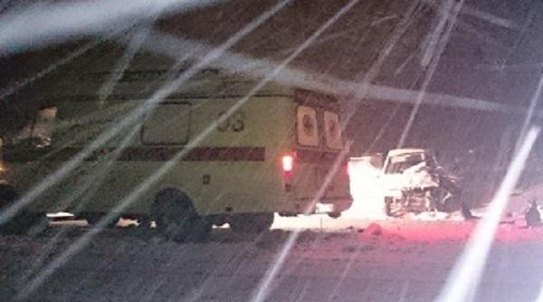 В Усть-Лабинском районе  из-за снегопада «девятка» влетела под колеса грузовика