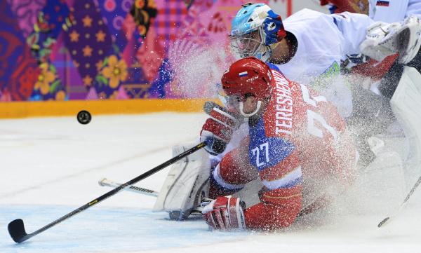 Российские хоккеисты прибыли в Сочи на Кубок Первого канала