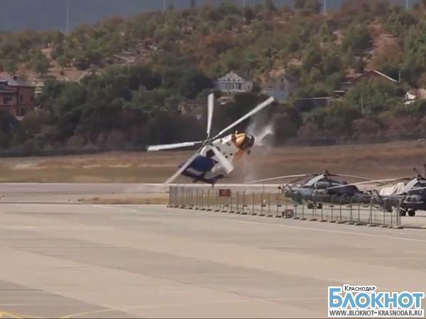 Видео с  крушением вертолета Ми-8 в Геленджике попало в Интернет
