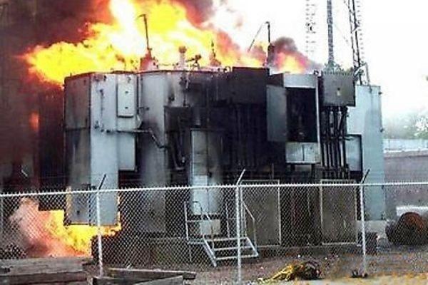 В Ейске подожгли трансформаторную подстанцию