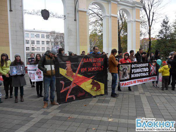 В Краснодаре прошла акция «Животные – не одежда»