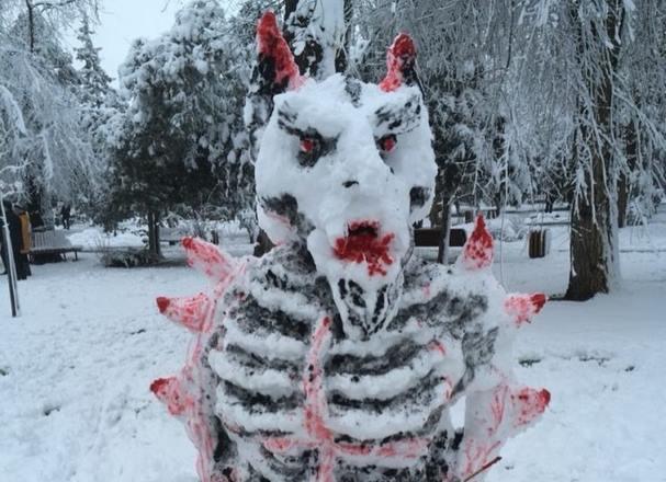 Снежный демон из Темрюка напугал кубанцев