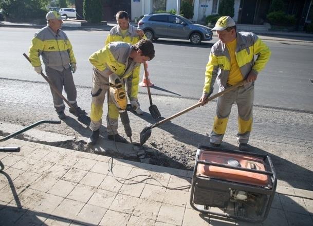 Ремонт на улице Суворова в Краснодаре продлится до конца лета