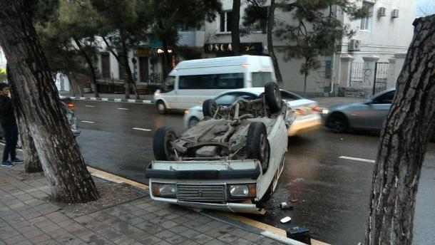 Массовая авария с пострадавшим произошла в Новороссийске