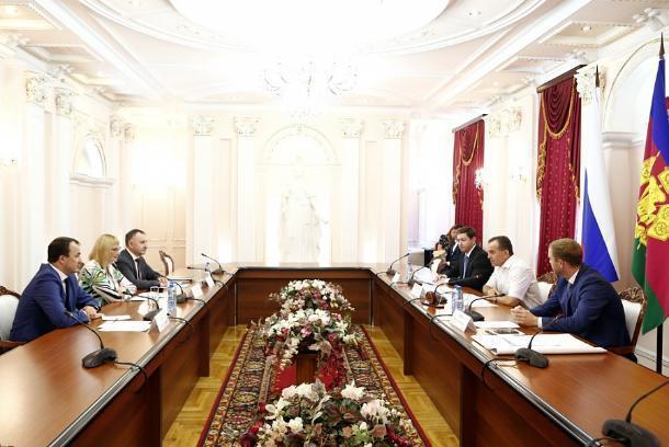 Губернатор Краснодарского края Вениамин Кондратьев встретился с руководством «Магнита»