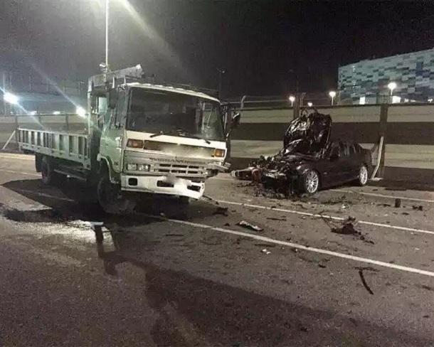 ВСочи столкнулись два автомобиля имотоцикл
