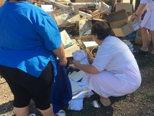 Кучу медицинских карт нашли на мусорке за тимашевской ЦРБ