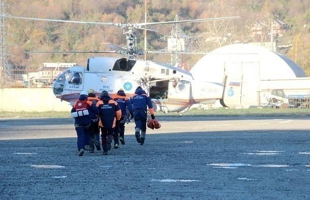 ВСочи вертолет забрал нездорового сотрудника заповедника скордона Умпырь