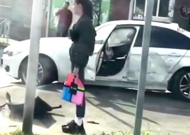 BMW и «скорая» столкнулись в центре Краснодара