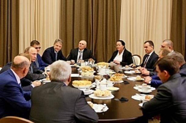 Владимир Путин поздравил кубанских рисоводов с рекордным урожаем