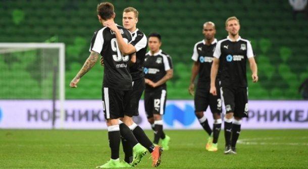 Футболисты «Спартака» сыграли вничью 2:2 с«Краснодаром» навыезде
