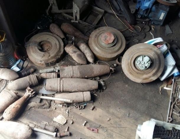 ВТихорецке отыскали 15 боеприпасов времен ВОВ