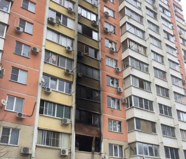 Из-за пожара в краснодарской многоэтажке эвакуировали более 30 человек