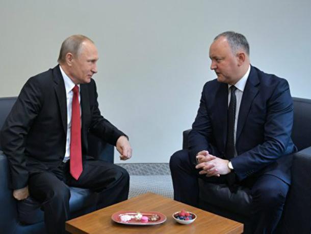 Президент Молдовы поговорит о провокациях властей с Путиным в Сочи