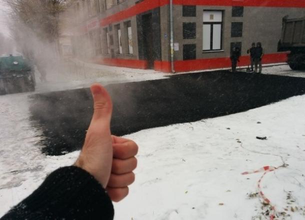 «В снег асфальт ложится лучше» - жители о ремонте дорог в Краснодарском крае